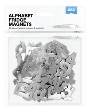 Shot2go Pack of 90 Metallic Magnetic alphabet letters numbers & symbols - Silver