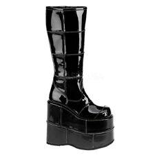 Demonia Mens Tall Platform Cyber Goth Gogo Punk Industrial Knee Boots