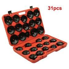 31x Oil Filter Removal Wrench Cap Car Garage Tool Set Loosen Tighten Socket Case