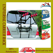 3 Bicycle Bike Car Cycle Carrier Rack Universal Fitting Saloon Hatchback Estate.