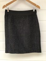 REVIEW Black & Silver Tweed Pencil Skirt - Size 10