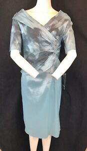 BNWT Ispirato IS822 Cerulean Dress. Mother of the Bride/Groom. Wedding Guest. 12