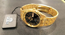 Orient Dress Watch Automatic Gold Numeric Black Dial Watch FREE US SHIP