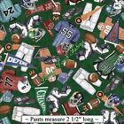 "QT DAN MORRIS ""GRIDIRON"" FOOTBALL FABRICS SELECTION"