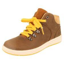 Scarpe stivali per bambini dai 2 ai 16 anni marrone cerniera