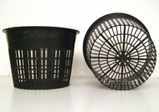 """Orchid Pot Hydroponics Slotted Mesh Net Construction Round 6 x 4.5"""" Pack of 10"""