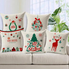 Linen Blend Christmas Decorative Cushion Covers