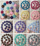 20-60pcs Resin Flower flatback Appliques For phone/wedding/crafts