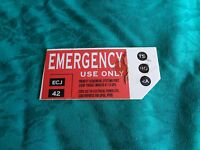 Star Trek Prop Screen Used Enterprise Sign Emergency Use Only