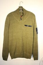BEST FASHION - GREEN SWEATER, NAVY BLUE ACCENTS - ADULT SIZE MEDIUM
