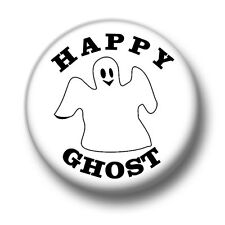 Happy Ghost 1 Inch / 25mm Pin Button Badge Monster Black Cats Ghosts Ghouls Cute