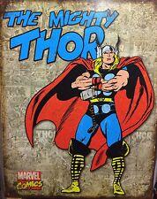 Potrebbe THOR POSTER Retrò Pannelli di copertura in metallo Supereroe Marvel Muro Arredamento Bar