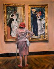 """NEW ORIGINAL ESCHA VAN DEN BOGERD """"Watching Renoir' Auguste Gallery PAINTING"""