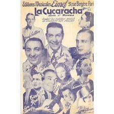LA CUCARACHA java rumba Jean SABLON et ROSSI parole CHAMFLEURY musique TATA NACH