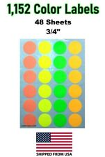1152 Removable Color Coding Labels Dots Tag Sale Price Tags Moving 48 Sheet Usa