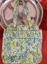 Vera Bradley English Meadow Large Tote Purse Handbag Green Blue w/Coin Purse