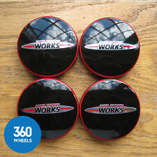 4 x NEW GENUINE ORIGINAL MINI JCW ALLOY WHEEL CENTRE CAPS HUB BADGES F56 F56