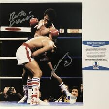 Autographed/Signed SUGAR RAY LEONARD & ROBERTO DURAN 8x10 Photo Beckett COA #2