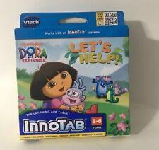 VTech Dora the Explorer InnoTab Learning App Tablet Game Cartridge Let's Help!
