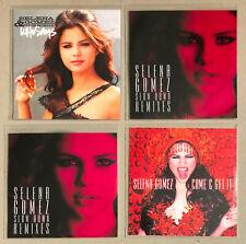 SELENA GOMEZ * UK + US 4 PROMO CD BUNDLE * HTF! * WHO SAYS * SLOW DOWN * COME &