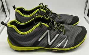 NEW BALANCE Minimus Trail Running Shoe, Men's, MT20SL2 -Sz9.5 - Grey/Lime Green