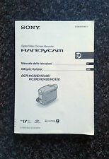 Italian & Greek Instruction Manual for Sony DCR-HC32E/HC33E/HC39E/HC42E/HC43E