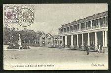 Port Louis Railway Station Mauritius Maurice 2 stamps 1910