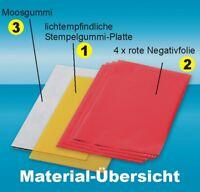 Moosgummi 2 mm, Material-Pack M6,  15x20 cm, DIN A5