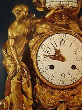vintage Air France First Class Menu holder antique ornate clock Versailles