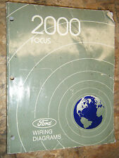 2000 FORD FOCUS ORIGINAL FACTORY ELECTRICAL WIRING DIAGRAMS SERVICE MANUAL