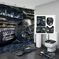 60x72 Inches Sonaby Custom Dallas Cowboys Waterproof Fabric Shower Curtain For Bathroom Decoration