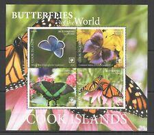 R0184 2020 COOK ISLANDS BUTTERFLIES OF THE WORLD FLORA & FAUNA KB MNH