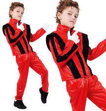 Bambini Bimbi Superstar Costume Michael Jackson Thriller vestito M