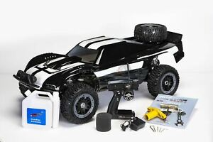 King Motor T1000 [Black] 1:5 Scale Petrol RC Truck 2.4Ghz