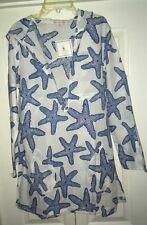 Barbara Gerwit Women's Starfish Tunic Hooded Beach Coverup NWT Large
