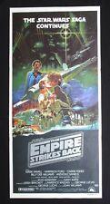 THE EMPIRE STRIKES BACK 1980 Orig Australian daybill movie poster Ohrai artwork