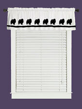 Keeshond Dog Window Valance Curtain . Choice of Colors*