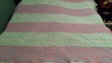 Queen King Size Crochet Blanket Bedspread Afghan Handmade Huge 85 X 88 In