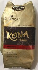 Kona Blend  Coffee Whole Beans Hawaiian Gold 2 lbs