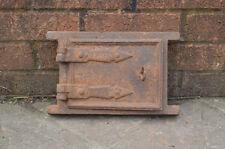 29.5 x 19 cm Old Cast Iron Fire pain Four porte/PORTES/cheminée/Argile/Range/pizza