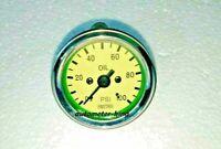 Smith Oil Pressure Gauge 0 100 Bar Chrome Bezel cream
