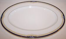 "LOVELY NORITAKE NEW LINEAGE II BONE CHINA 4762 PALESTRA 14"" OVAL SERVING PLATTER"