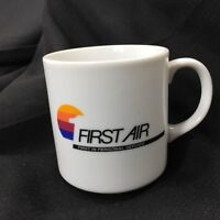 First Air Airlines CS-27 Vintage Logo Coffee Cup Mug First In Personal Service