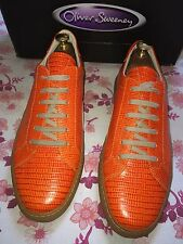 Oliver Sweeney Allen Croc Leather Sneaker Shoe Size Uk 8 Made In Italy RRP £279
