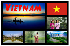 VIETNAM, ASIA - SOUVENIR NOVELTY FRIDGE MAGNET - GIFTS - SIGHTS - FLAGS - NEW