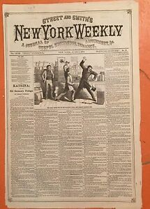1878 Street & Smith's New York Weekly June 3 - Miner's Judgment Day; Uncle Sep