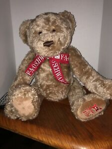 "Vtg 1999 FAO Schwarz Jointed Brown LARGE Teddy Bear Plush 24"" Stuffed Animal Lg"