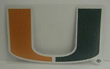 6-Inch Miami Hurricanes Logo Perforated Vinyl Window Graphic