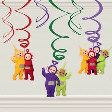 Cbeebies Teletubbies 6 Hanging Swirls Children Birthday Party Colourful Dipsy