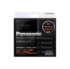 Charger + 4 Panasonic Eneloop Pro Batteries 2450 mAh AA Rechargeable Batteries